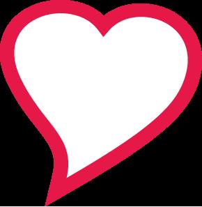 srdce obrys